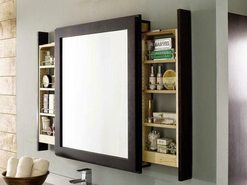 7 ideas para cuarto de baño pequeño mueble espejo espejo Pinterest