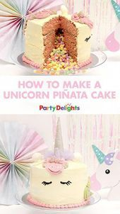 Photo of Throwing a unicorn party? This unicorn piñata cake will be the cherry on top of… –  #cake #…