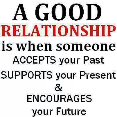 A good relationship...
