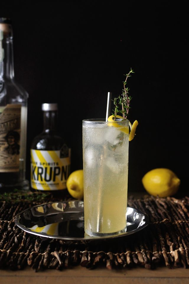 spiced honey collins cocktail recipe #gin