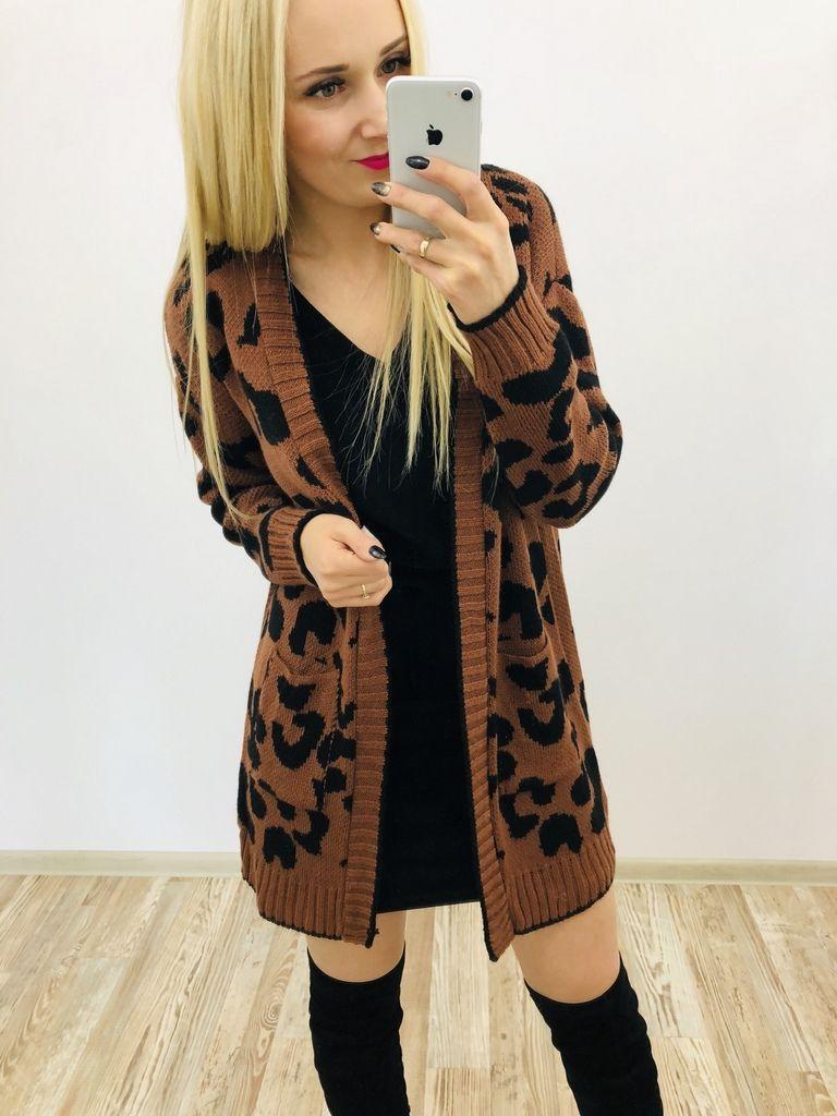Sweter Kardigan Panterka Fashion Women S Top Kimono Top