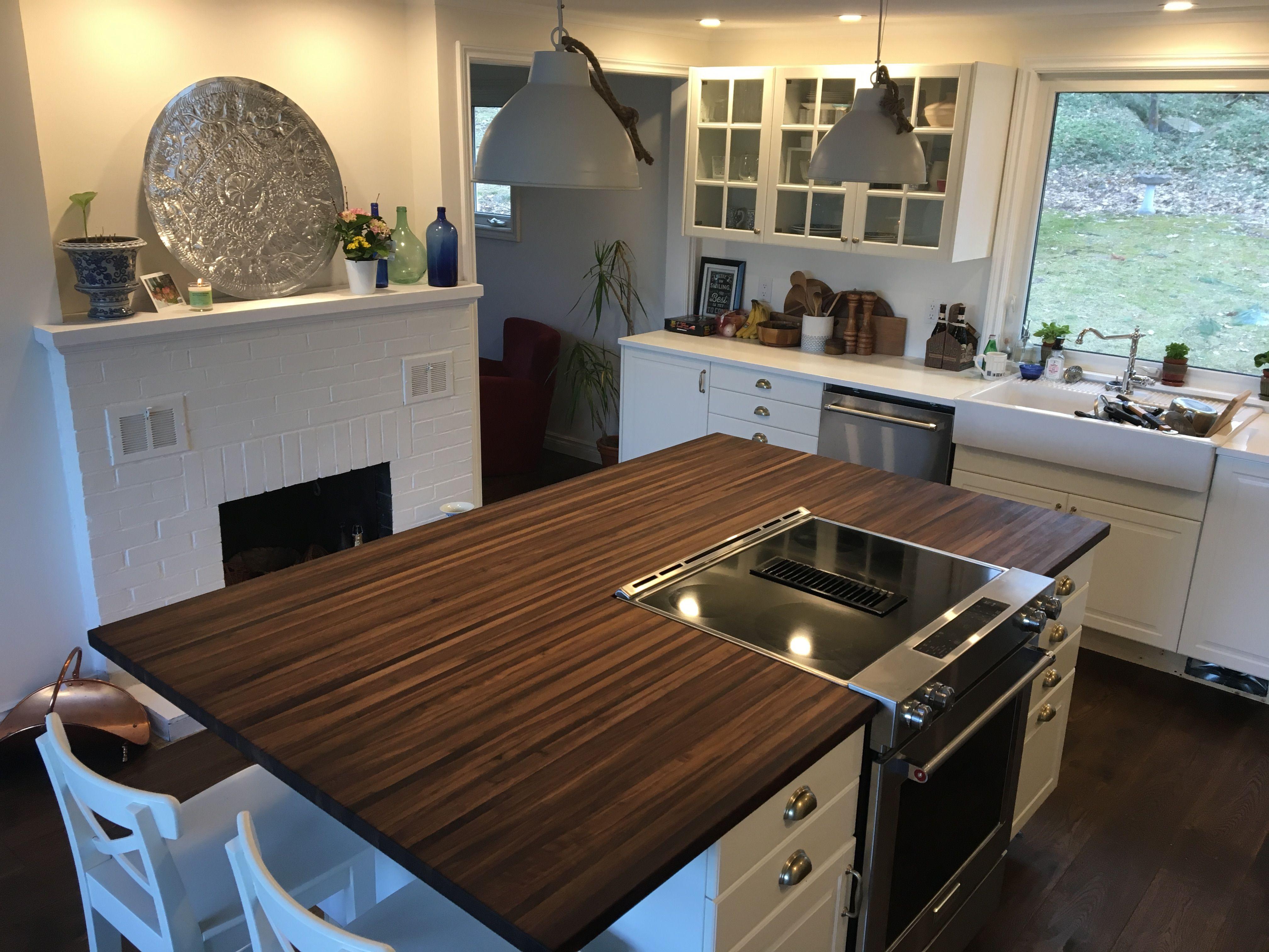 Distressed Walnut Butcher Block Counter Kitchen Wip