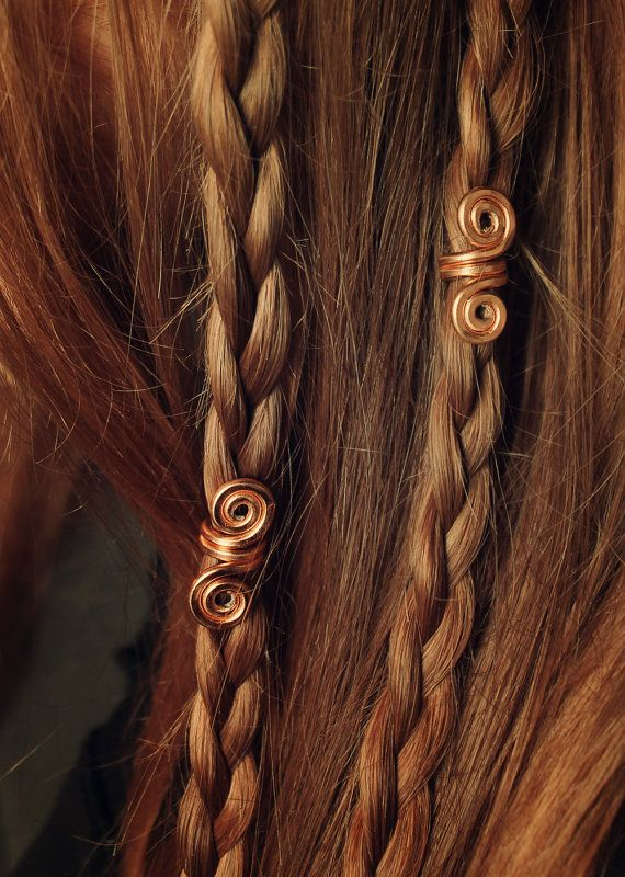 Gold New Pair Of Viking Hair Beads Beard Jewelry Dwarven Coils Bead Accessory Dreadlock Accessories