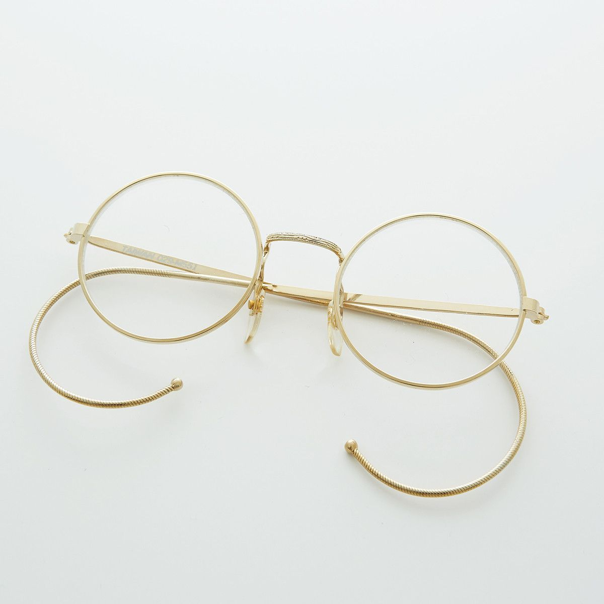 d3699b9414f7 Round John Lennon Victorian Spectacle Vintage Eyeglasses with Cable Temples  NOS -RUDY