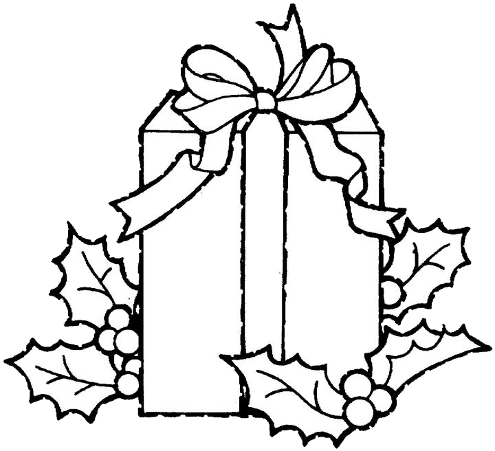 Christmas Gift Coloring Pages 3 Purple Kitty Christmas Gift Coloring Pages Christmas Present Coloring Pages Leaf Coloring Page