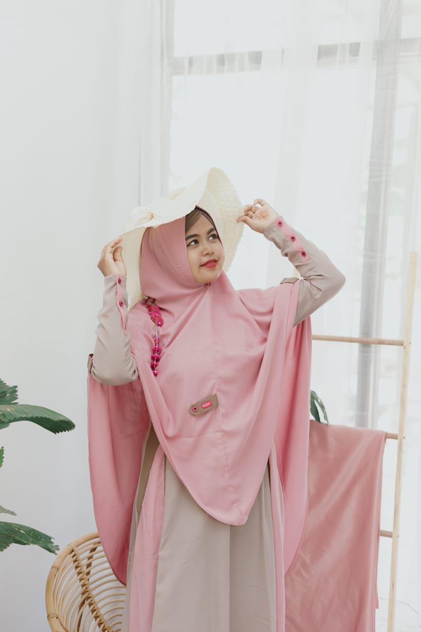 Ootd Gamis Set Hijab Syari Terbaru Hijab Ootd Kombinasi Warna
