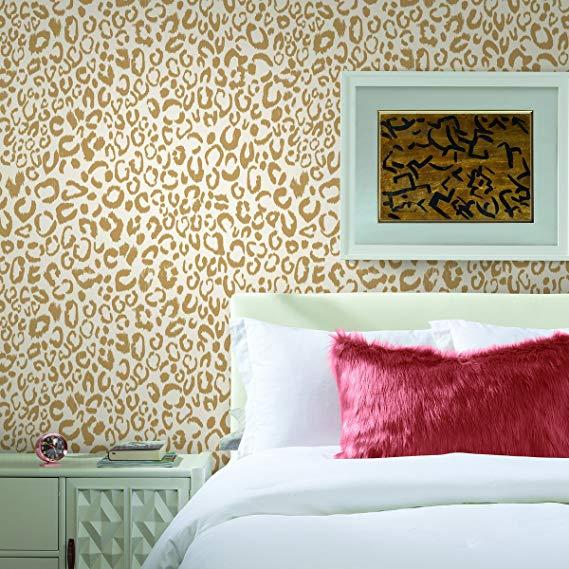 RoomMates Leopard Peel and Stick Wallpaper - - Amazon.com ...