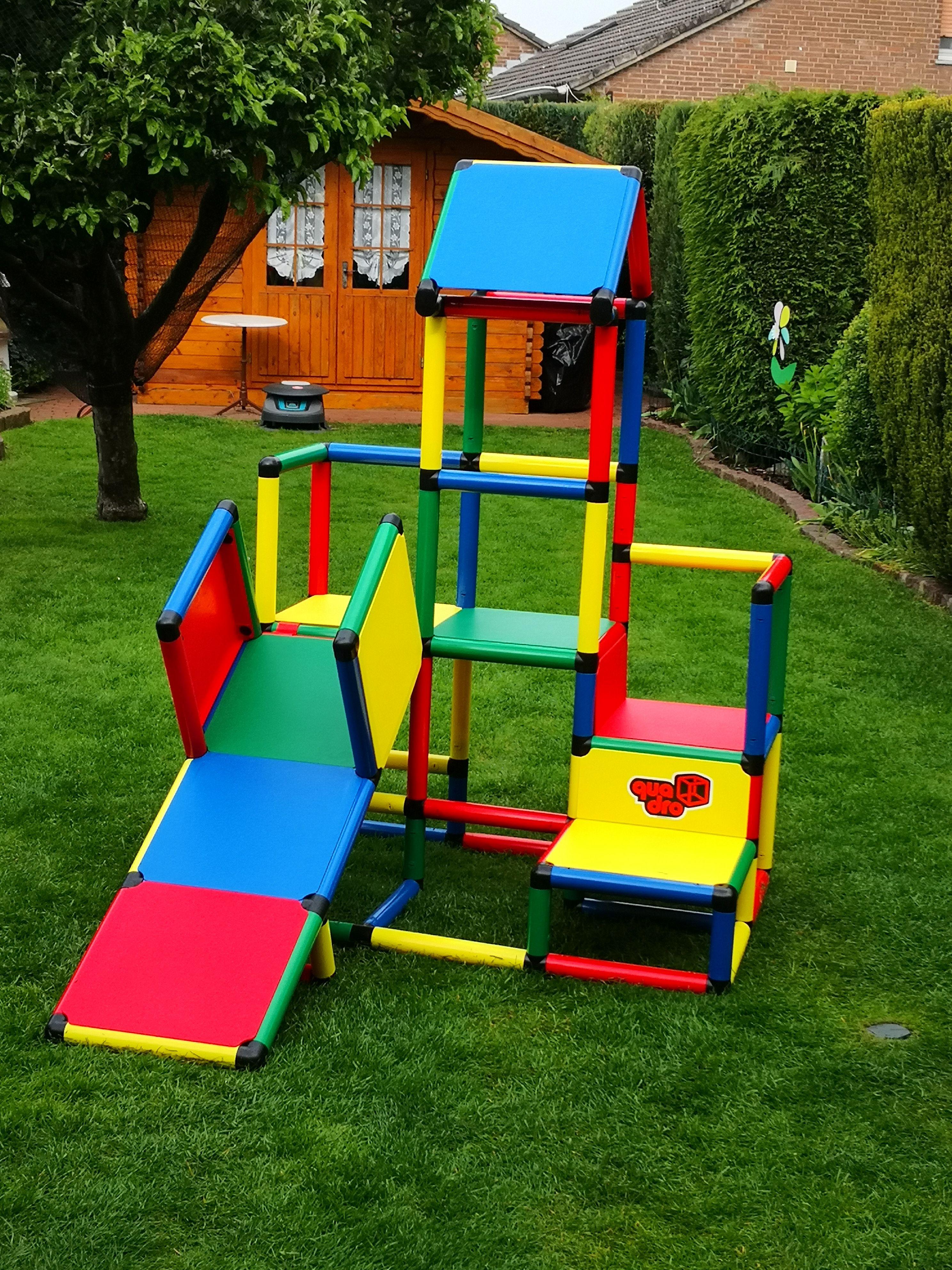 Die Neue Lieblingsbeschaftigung Unserer Drei Kinder Ist Der Quadro Spielturm Diesen Haben Wir Aus Dem Klettergeru Quadro Klettergerust Klettern Baby Erziehung