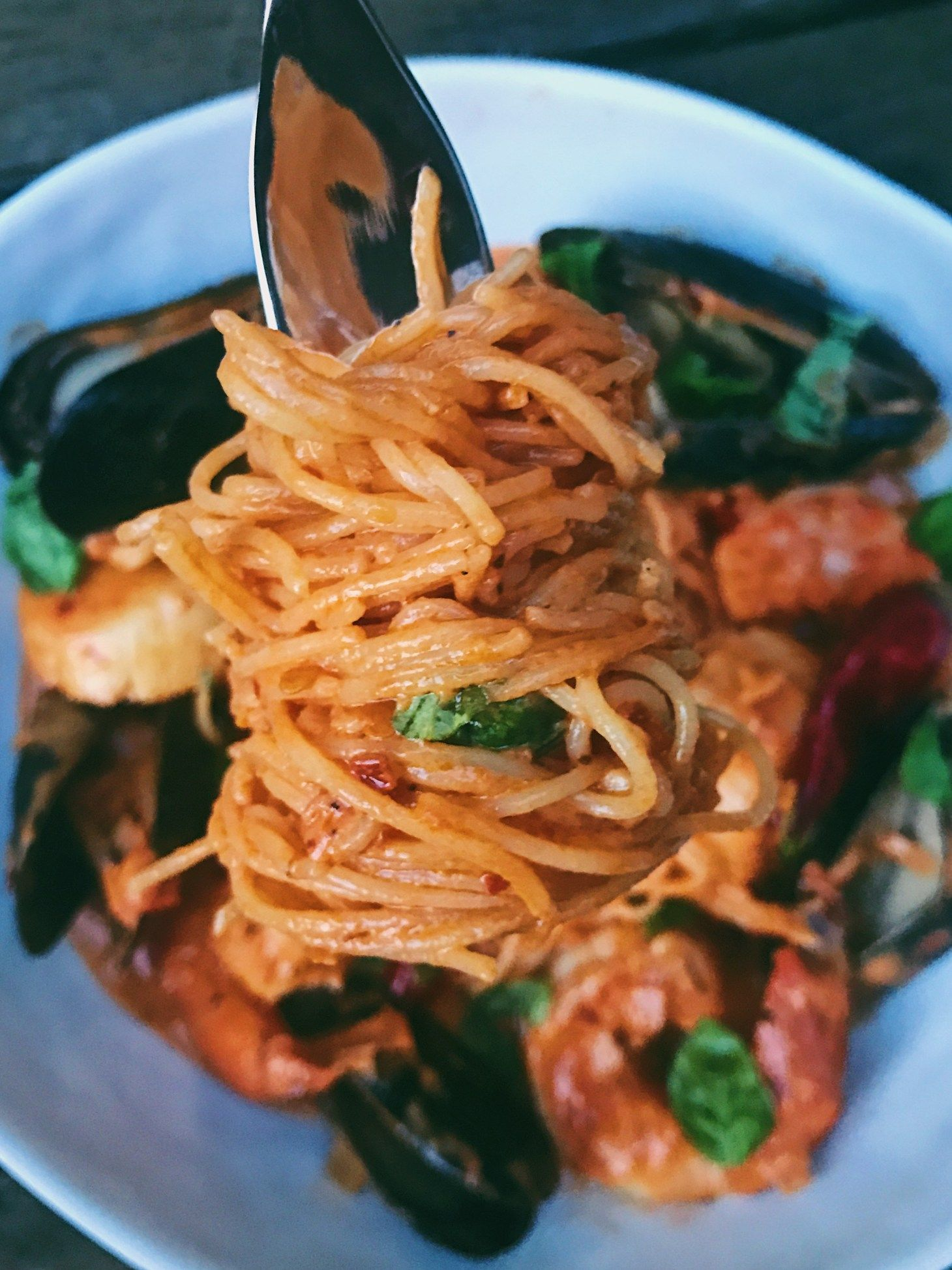Spicy Seafood Pasta with Vodka Sauce ...