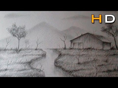 How To Draw Easy And Simple Landscape For Beginners With Pencil Youtube Landscape Sketch Landscape Painting Tutorial Easy Landscape Paintings