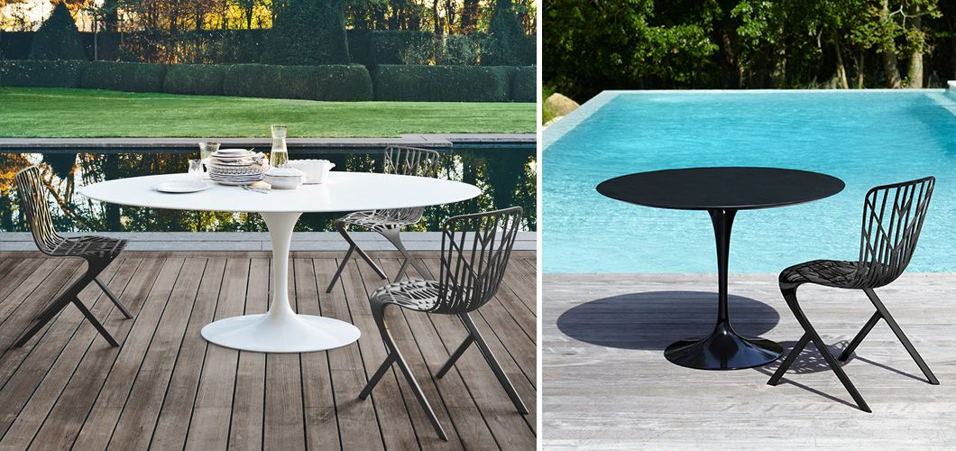 Knoll Saarinen Outdoor Dining Table By Eero Saarinen Furniture - Saarinen outdoor dining table