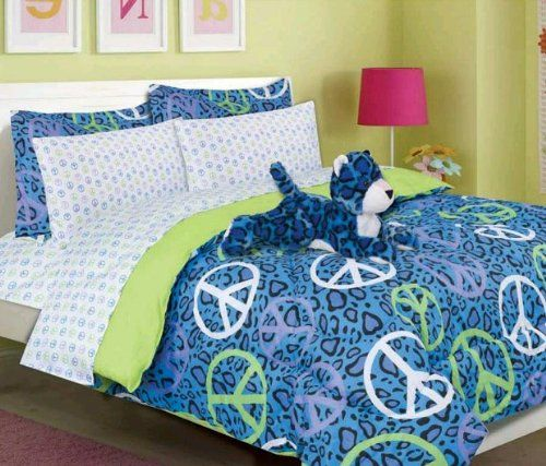 Girls Kids Bedding - Annie Blue Leopard Bed in a Bag Comforter Set -Full Bed In A Bag,http://www.amazon.com/dp/B00H8KCYJK/ref=cm_sw_r_pi_dp_oeE2sb011JAZM594