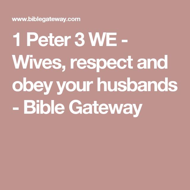 obey husband bible