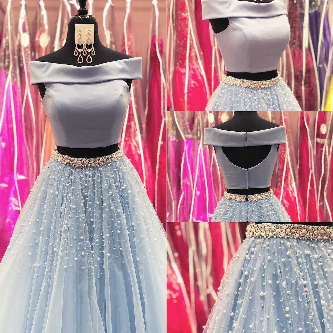 Princess aline v neck pink long prom dress with side slit from