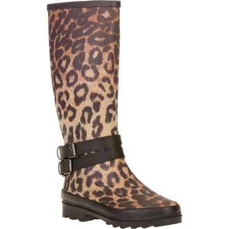 f1d76bd70a4e Forever Young Women's Leopard Print Couture Tall Rain Boot, Size: 6,  Multicolor
