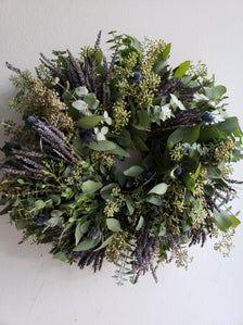 Photo of Fresh Eucalyptus & Lavender Wreath, Fresh Eucalyptus Wreath