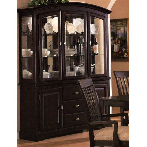 Sunrise China Cabinet Cappuccino Formal Dining Room