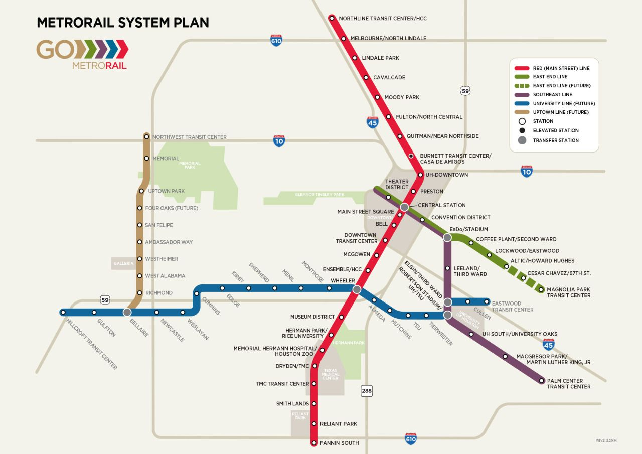 Image result for metrorail Houston planned system