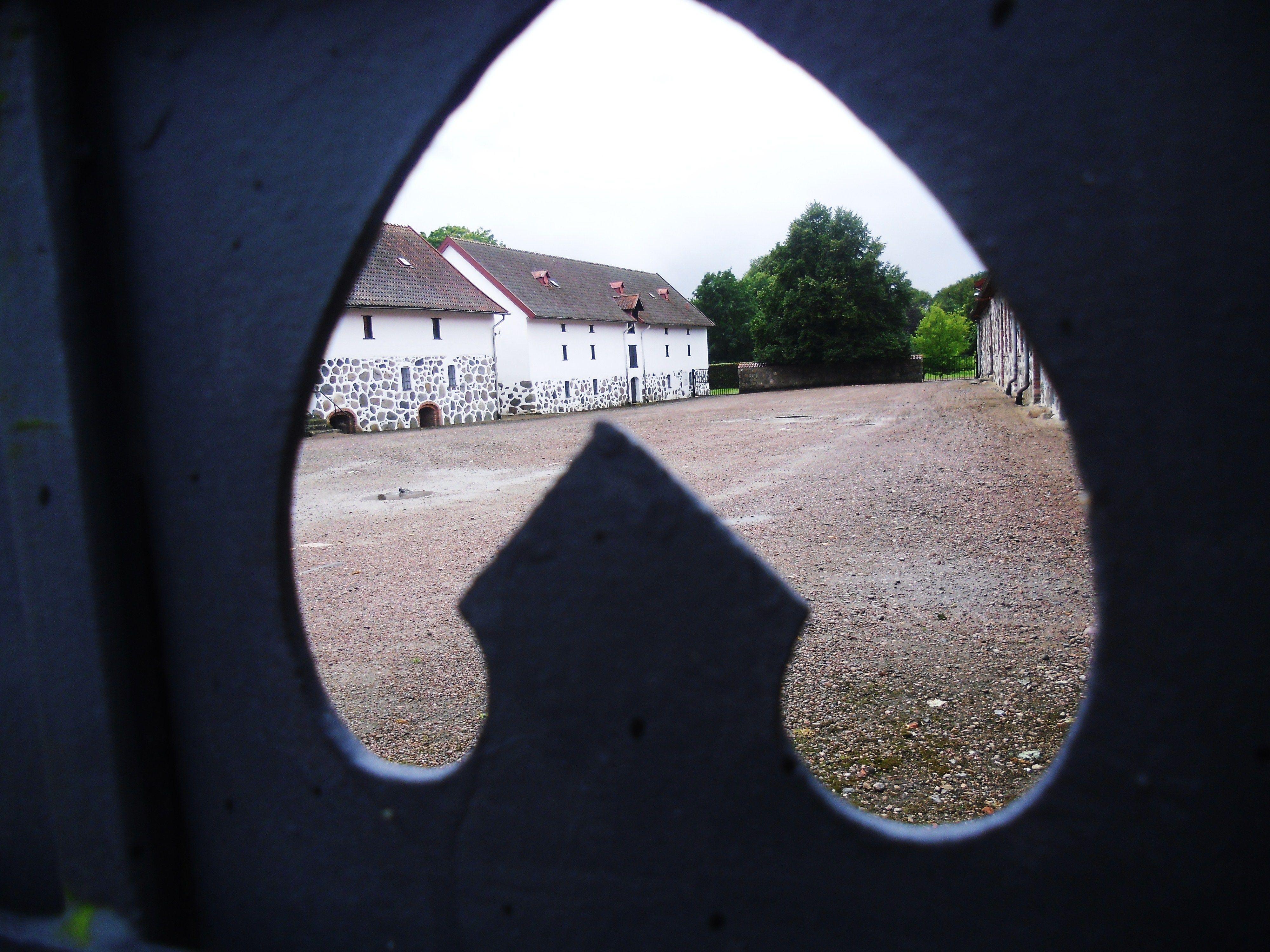 Through the ironwork gate, Trolleholm, Sweden