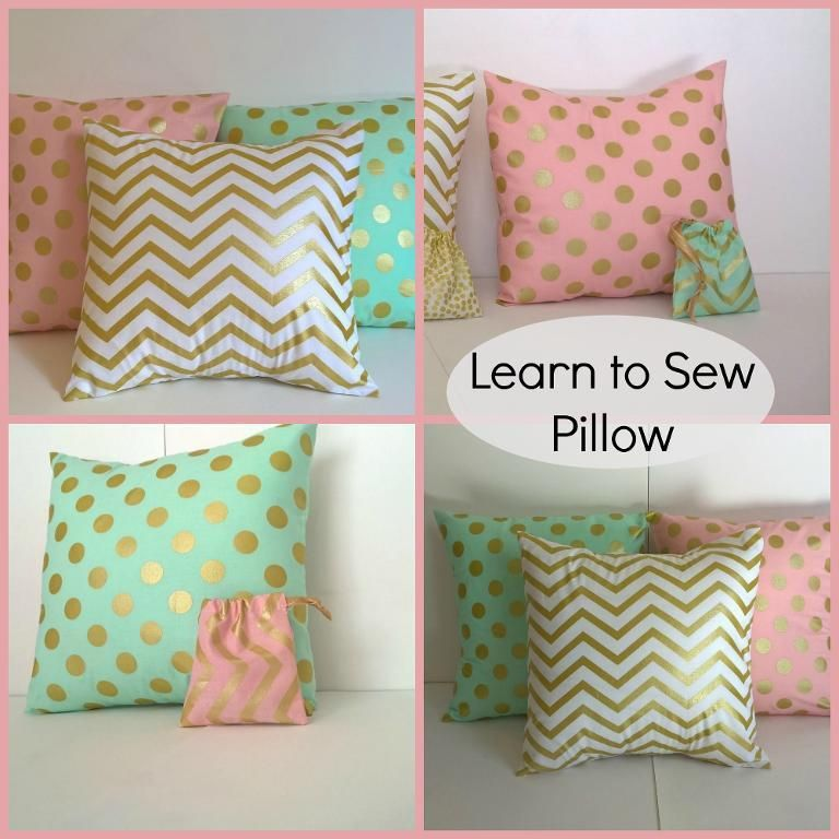 Learn To Sew Pillow Beginner Sewing Projects Pinterest Sewing