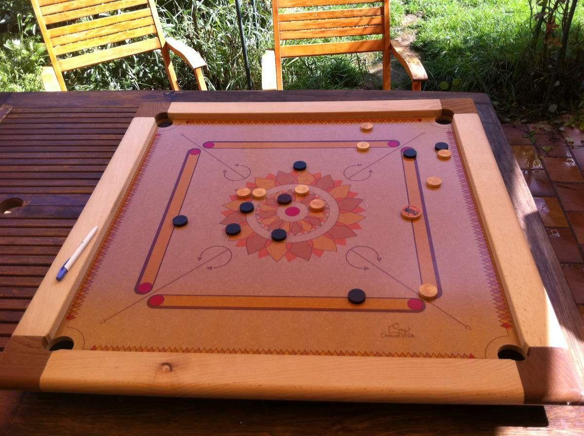 carrom ou billard indien   nos jeux en bois surdimensionnés   pinterest