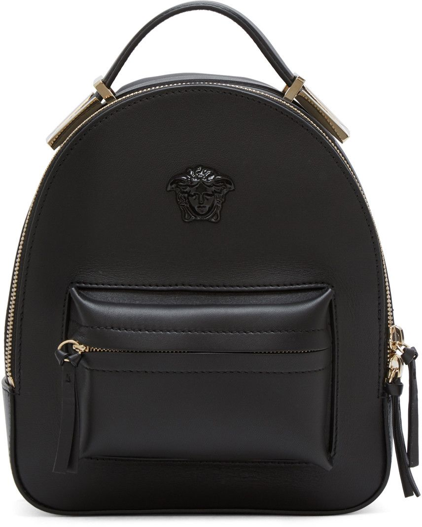 4cb9460d1b6a Versace - Black Mini Medusa Backpack