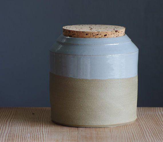 Vitrified Studio ceramic canister, $130