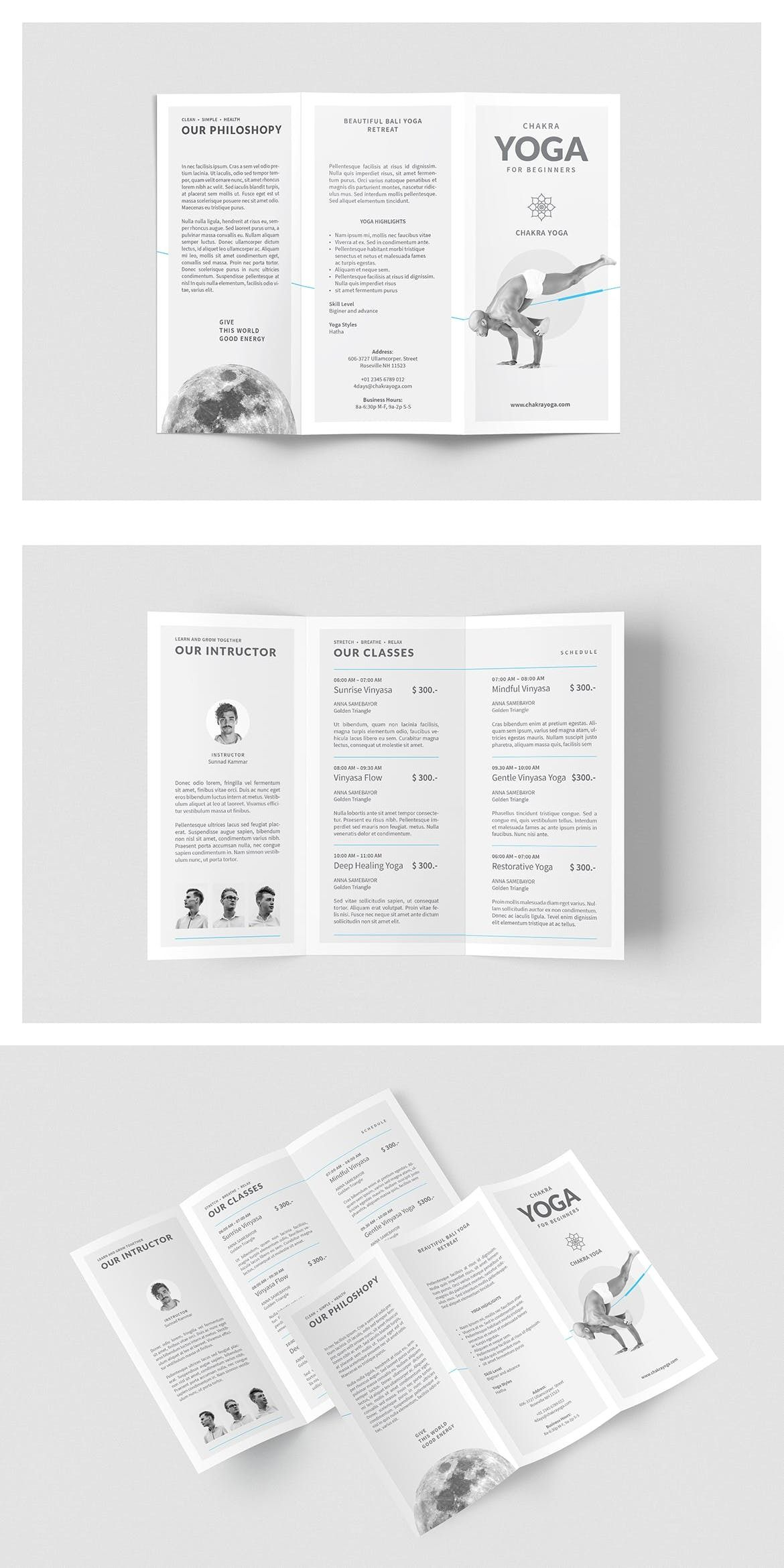 Yoga Classes Brochure by BOXKAYU on Envato Elements