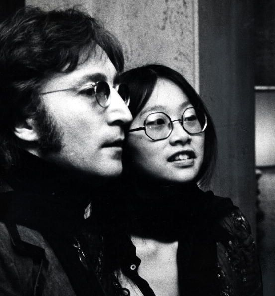 "mickydolenzio: ""  John Lennon with May Pang during his 'Lost Weekend' period in 1974 in Los Angeles. Photos by Michael Ochs. From Getty. """