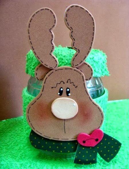 haz un reno navideo en fomi o goma eva