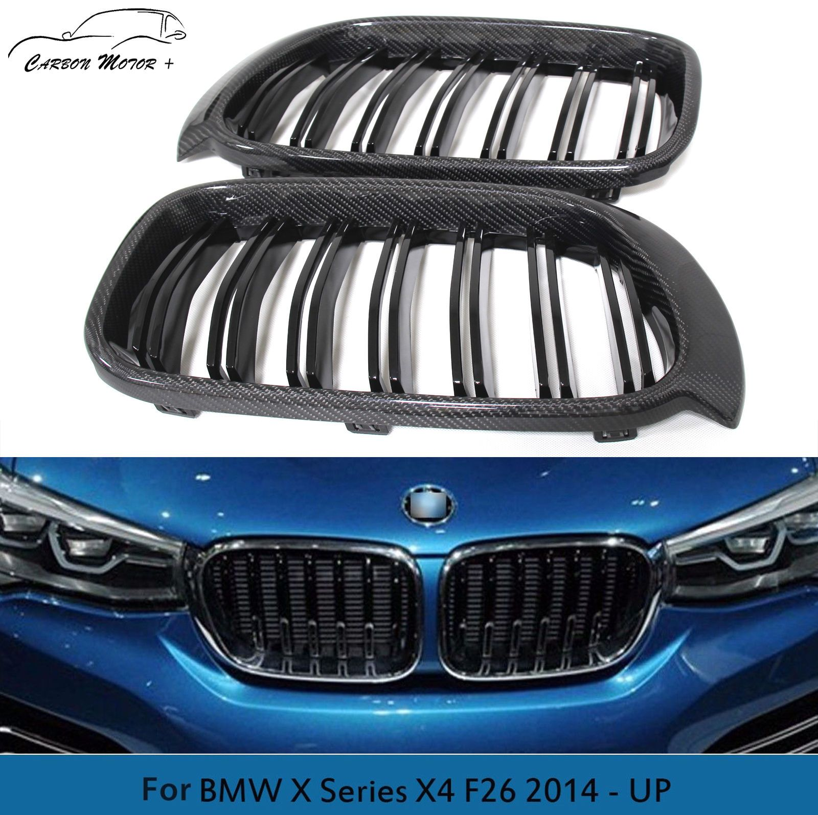 carbon fiber front grille m look tuning for bmw x3 f25. Black Bedroom Furniture Sets. Home Design Ideas
