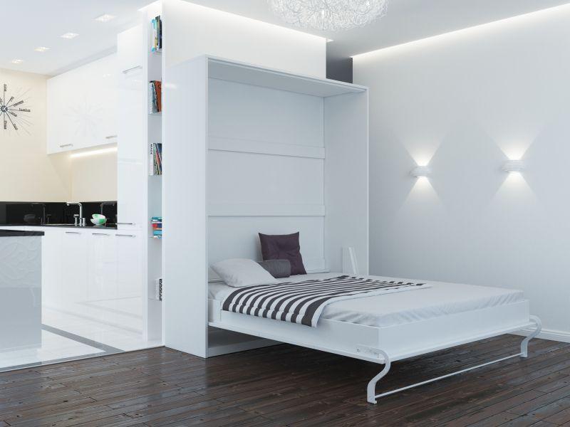 Schrankbett 160cm Vertikal Anthrazit/ Eiche Sonoma SMARTBett für ...