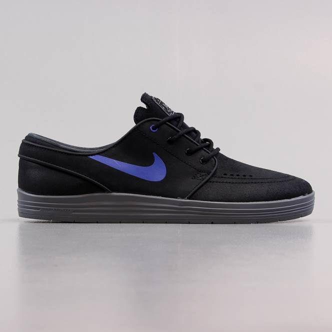 Nike SB Stefan Janoski Lunar Black Cool Grey Sneakers (Black/Game Royal-Cool Grey)