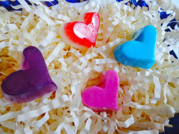 Purchasing our BULK Mini Heart Soaps is an economical choice to make your own party favors or decor for birthdays, bridal showers, Sweet 16,