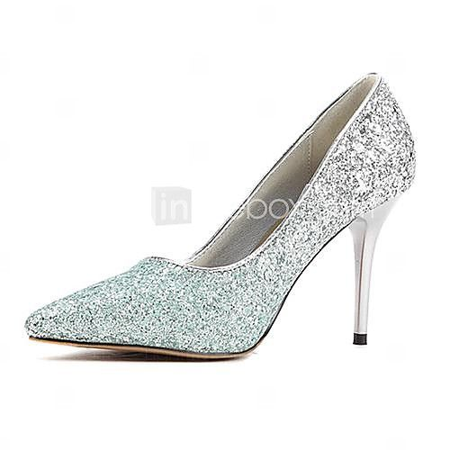 Women's Shoes Pointed Toe Stiletto Heel Pumps with Sequin Wedding Shoes More Colors available - USD $49.99