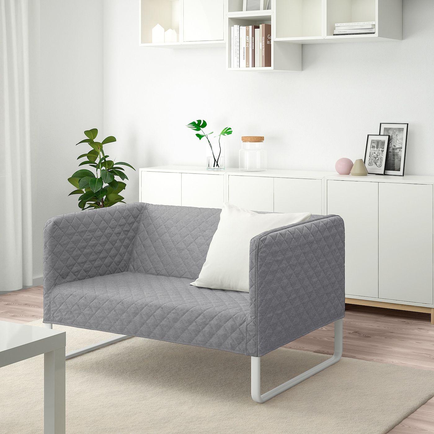 Knopparp 2mistna Pohovka Knisa Svetle Seda Ikea In 2020 2er Sofa Zimmereinrichtung Knopparp Ikea