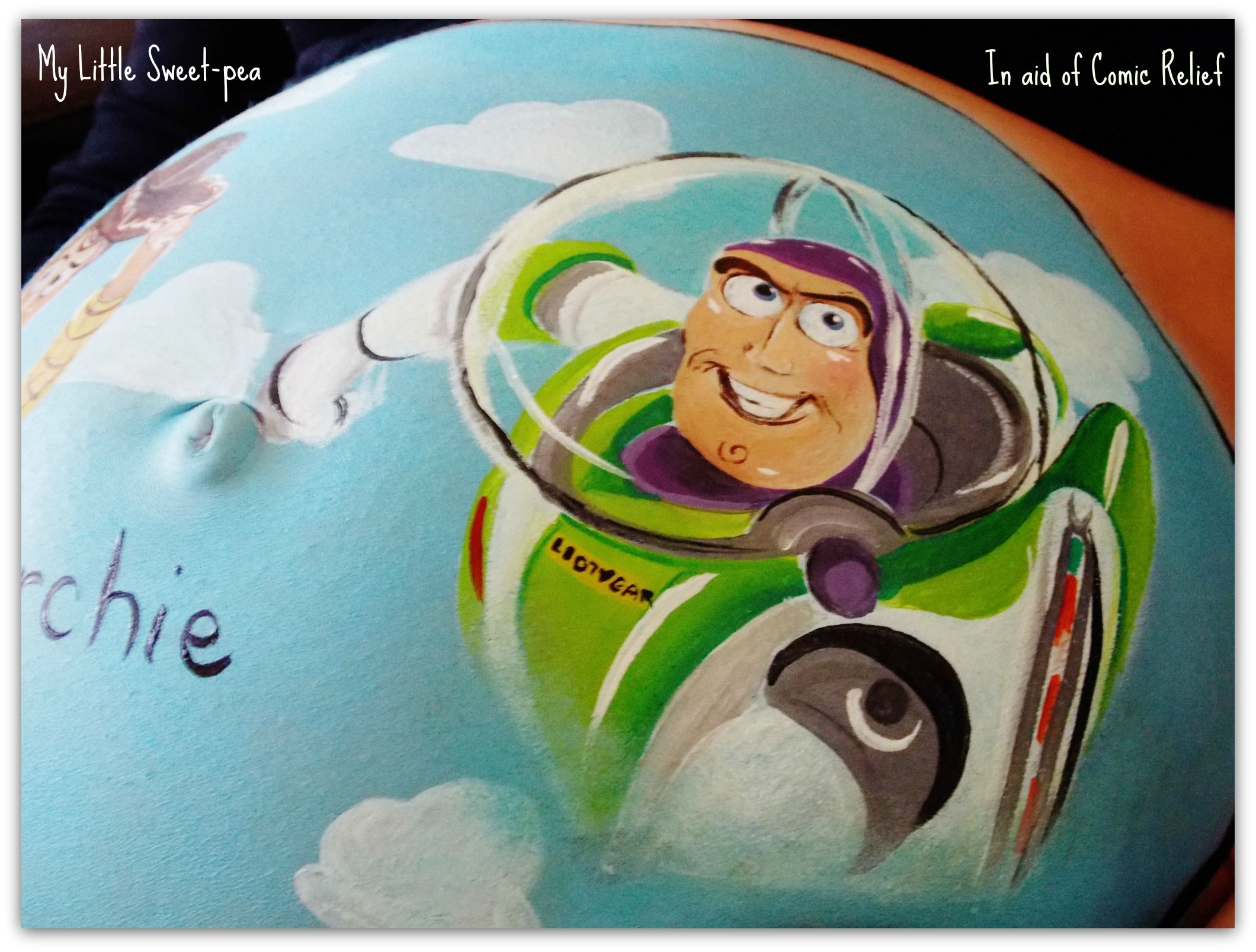 Toy Story Bump To Infinity And Beyond Belly Painting Bump Painting Pregnant Belly Painting
