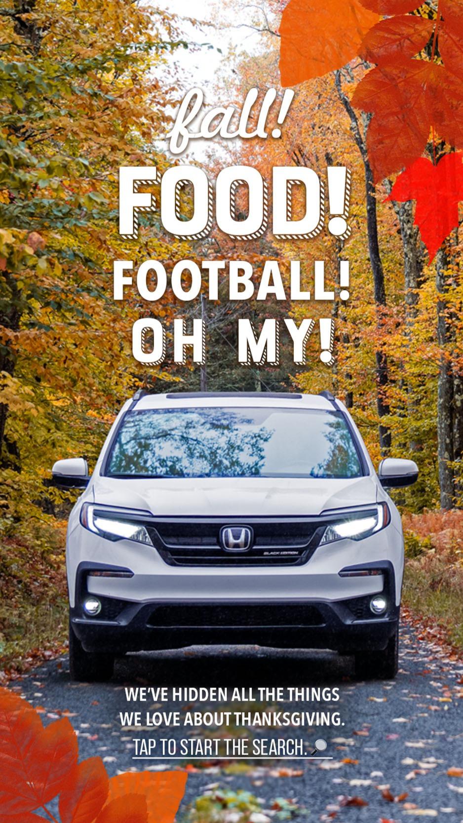 Fall! Food! Football! Oh My!