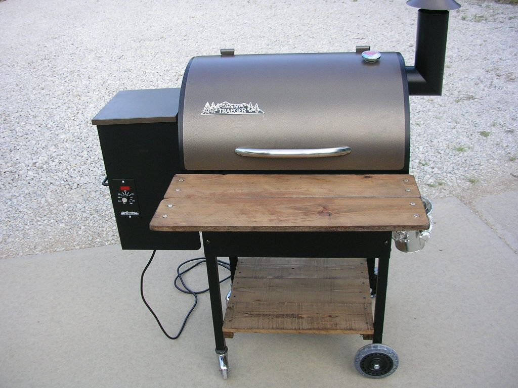 traeger lilu0027 tex elite needs shelves the bbq brethren forums - Traeger Grill Reviews