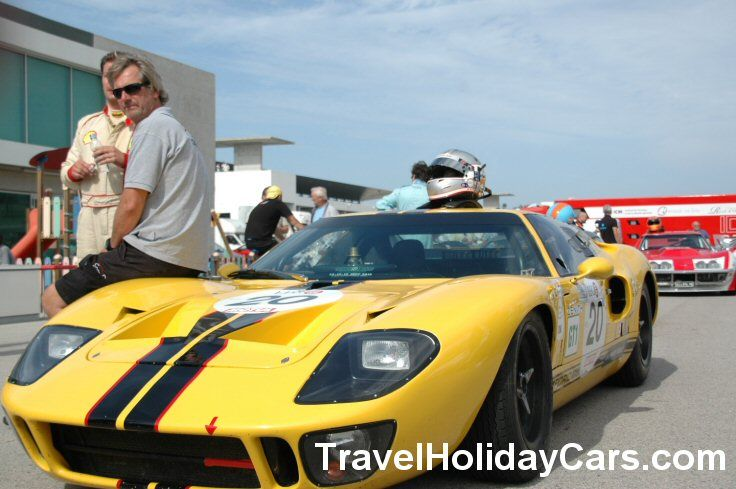 Ford Gt  At Algarve Classic Festival By Cheap Car Hire Worldwide At