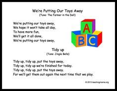 10 Preschool Transitions- Songs and Chants to Help Your Day Run ...