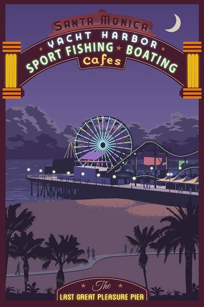 Santa Monica Pier Giclee Art