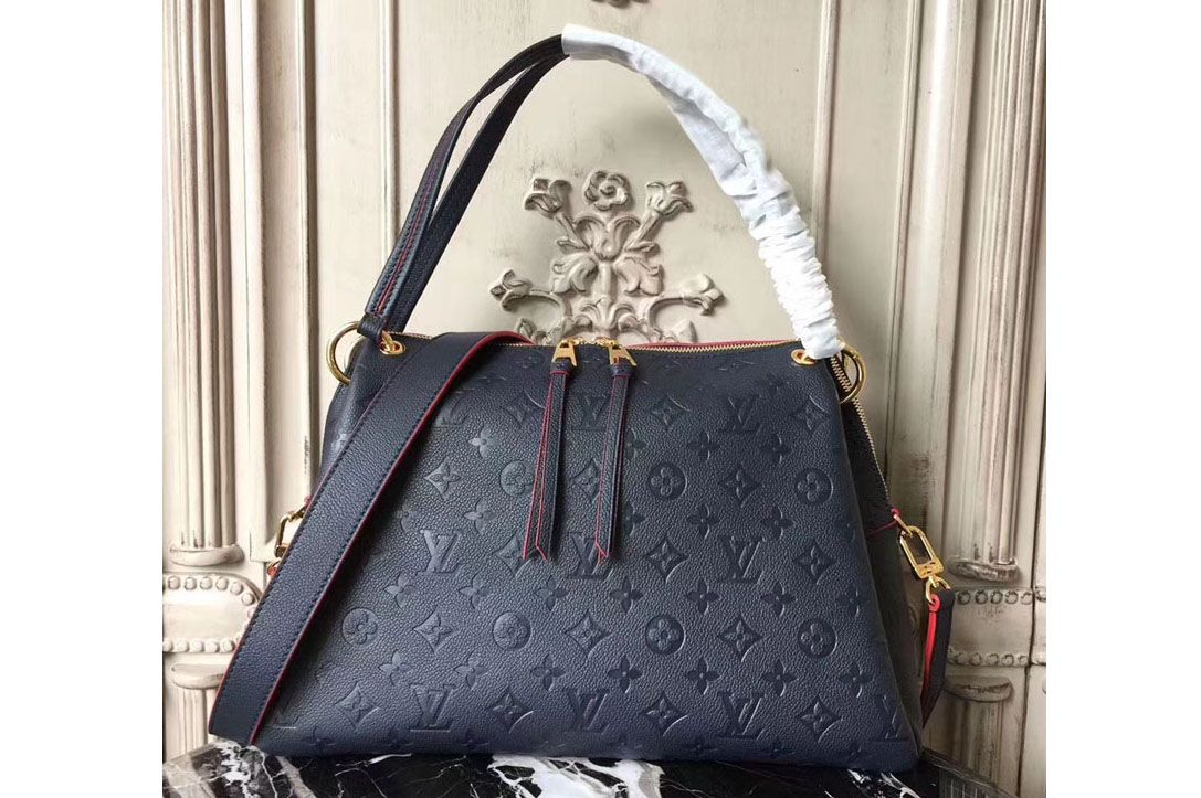 4d64b0ed18fa Louis Vuitton m43721 Ponthieu PM Monogram Empreinte Bags Blue
