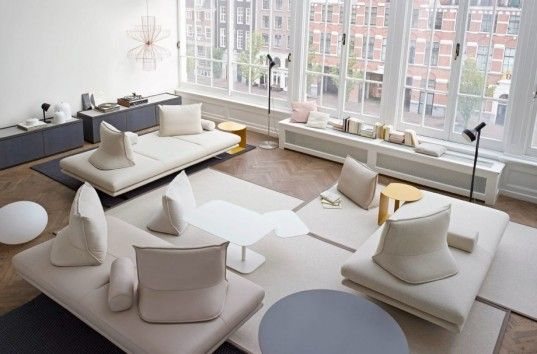 Καναπέδες χωρίς πλάτη, για όσους θέλουν κάτι πιο εναλλακτικό. | Στήσιμο  καθιστικού, Μοντέρνα έπιπλα, Σχέδια σαλονιών