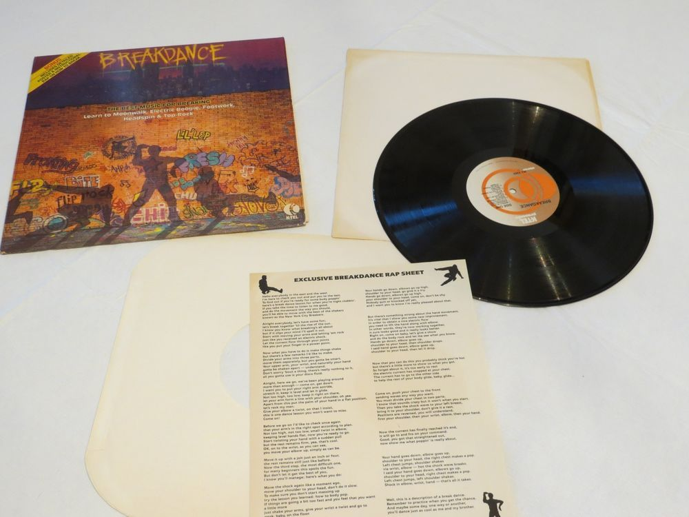 Breakdance Breaking With Poster Instructional Rap Lp Rare Record Vinyl Album Rare Records Break Dance Records