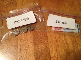 Sub folder ideas!  I love the idea of leaving them a goodie bag as a thank you!