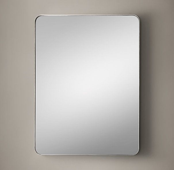 rh's bristol flat mirror:streamlined curves and a slim projection