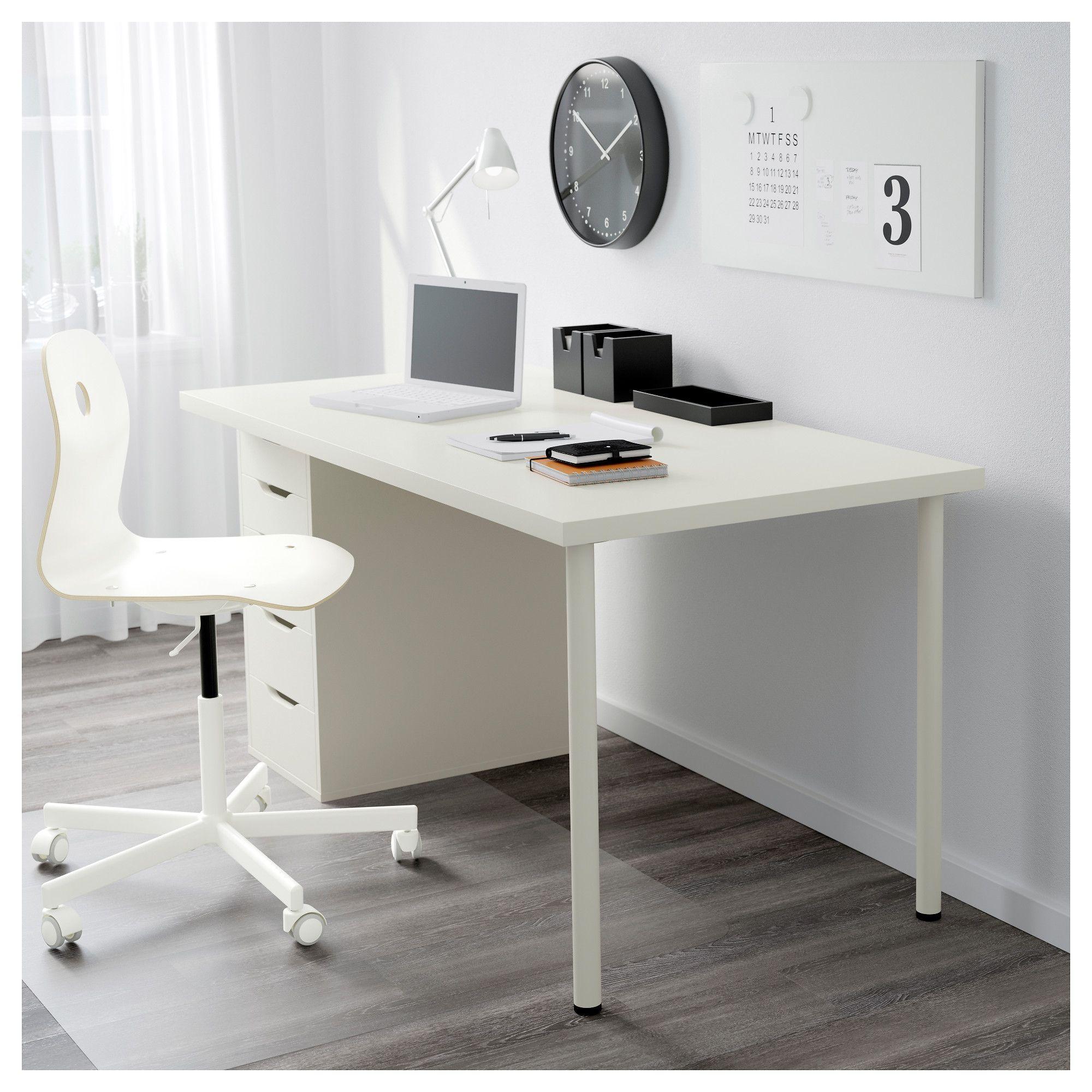 Linnmon Alex White Table 150x75 Cm Ikea Drawer Unit Home Office Desks Ikea