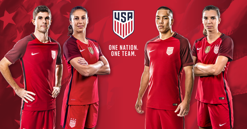949c84d1852 ... Jersey U.S. Soccer and Nike have unveiled the new 2017 U.S. National  Team kit