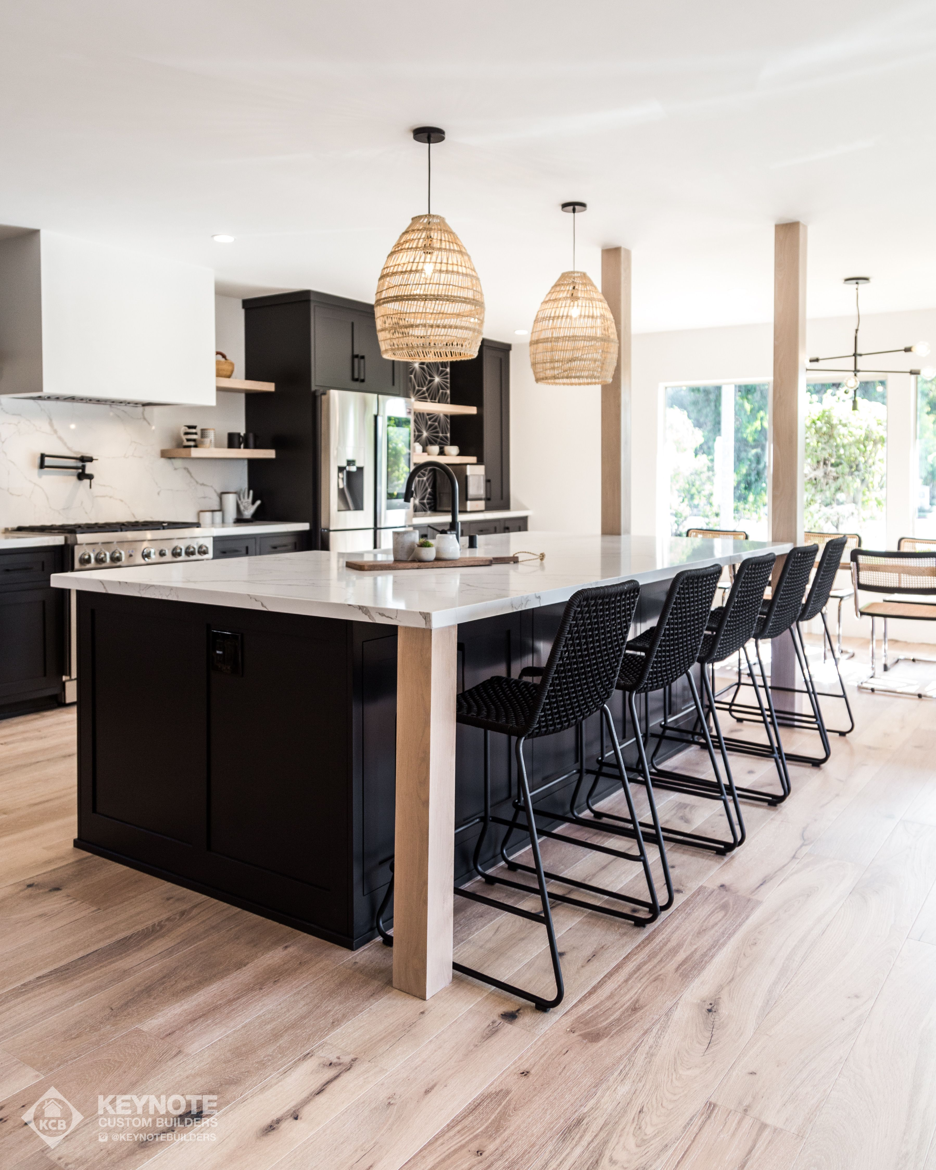 Black modern organic kitchen. White oak floating shelves ... on drywall garage, drywall basement, drywall fireplace, drywall entertainment center, drywall crown molding,
